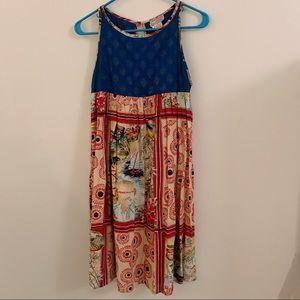 Vintage Hong Kong Print Dress